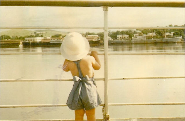 Anastasia's beginnings going down the Congo River on a barge as a toddler