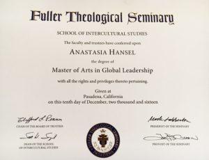 Masters certificate in Global Leadership